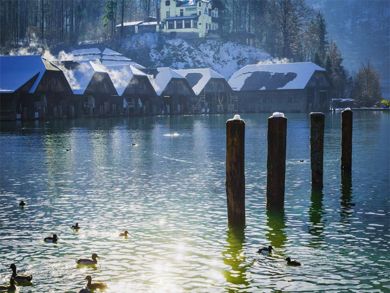 Hotel-Pension Greti im Winter Schönau a. Königssee bei Berchtesgaden