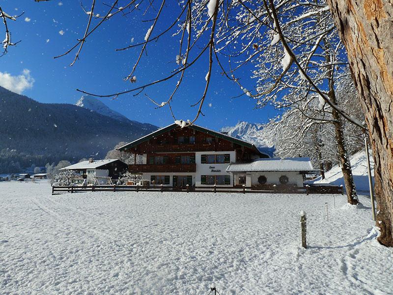 Ferienwohnung Gästehaus Almblick im Winter