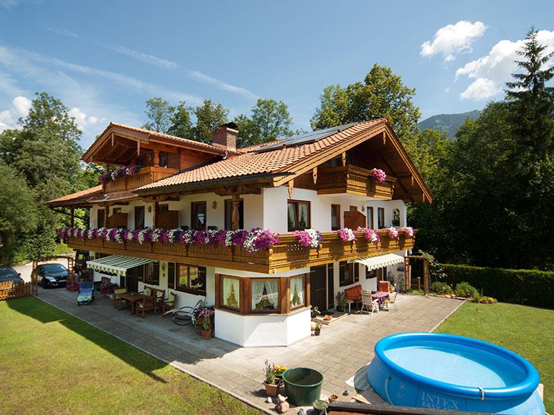 Ferienwohnung Landhaus Eschenbach im Sommer