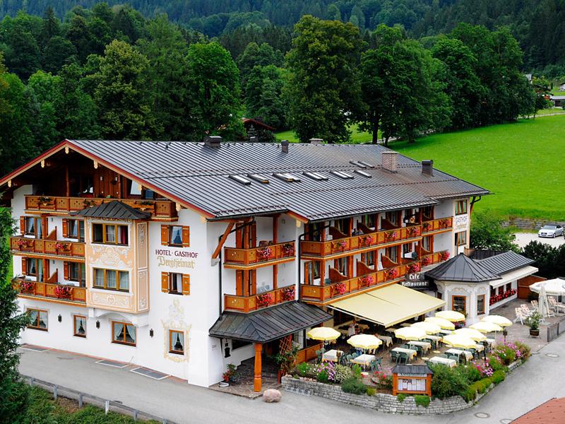 Hotel-Gasthof Bergheimat im Sommer