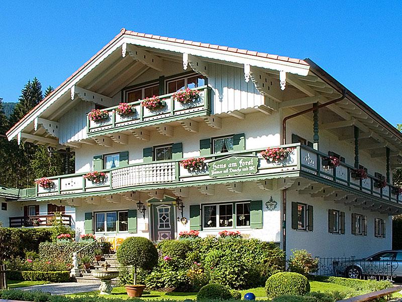 Pension Haus am Forst im Sommer Schönau a. Königssee bei Berchtesgaden
