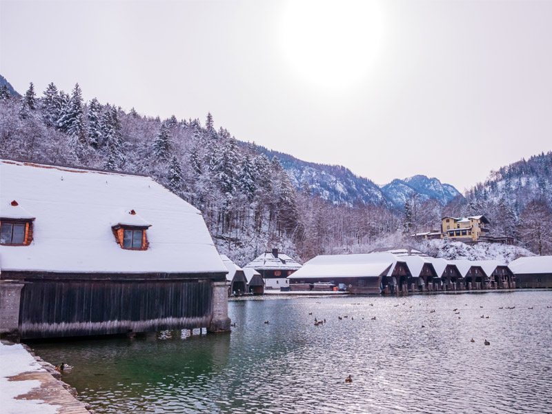 Ferienwohnung Schwöbeck im Winter Schönau a. Königssee bei Berchtesgaden