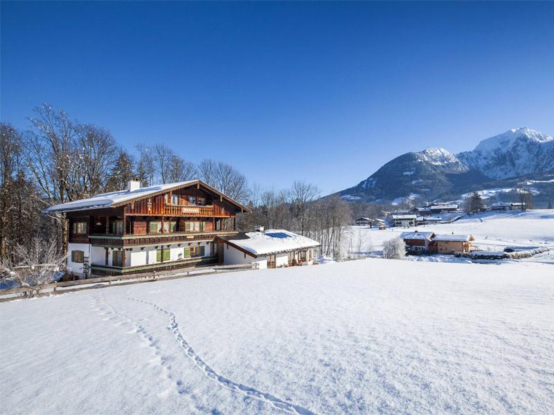 Ferienwohnung Haus Marienlehen im Winter