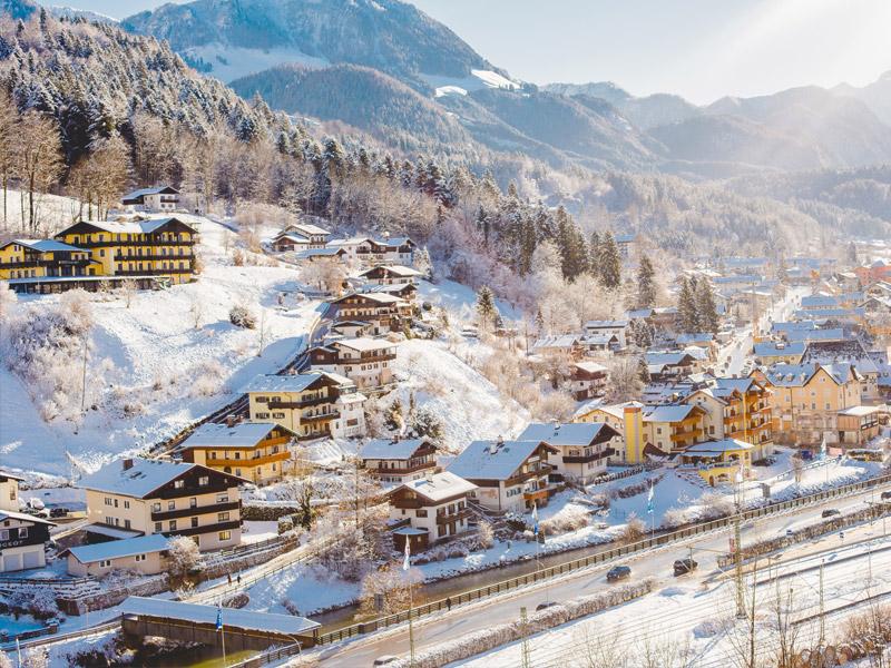 Hotel Grünberger im Winter