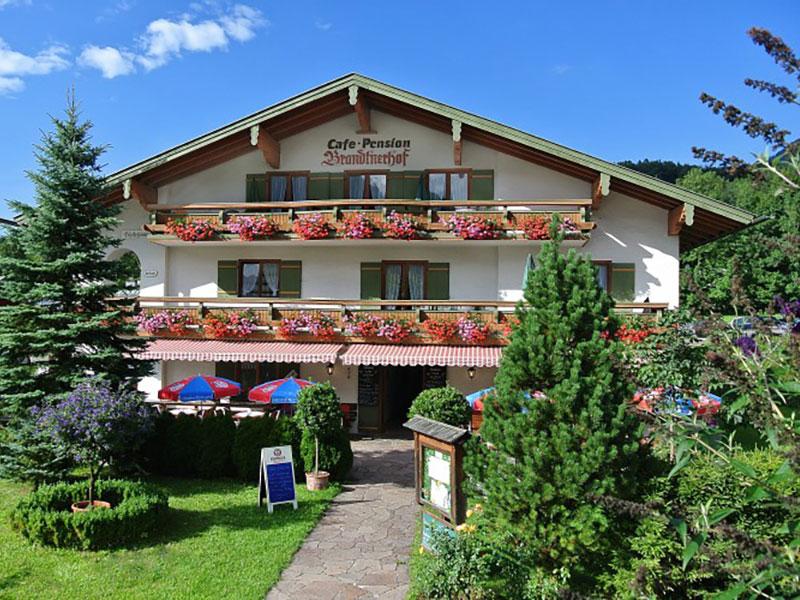 Café-Pension Brandtnerhof im Sommer Schönau a. Königssee bei Berchtesgaden