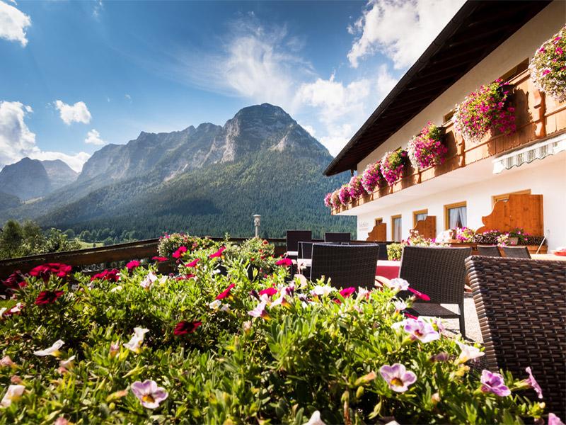 Gästehaus Heißenlehen im Sommer Ramsau bei Berchtesgaden