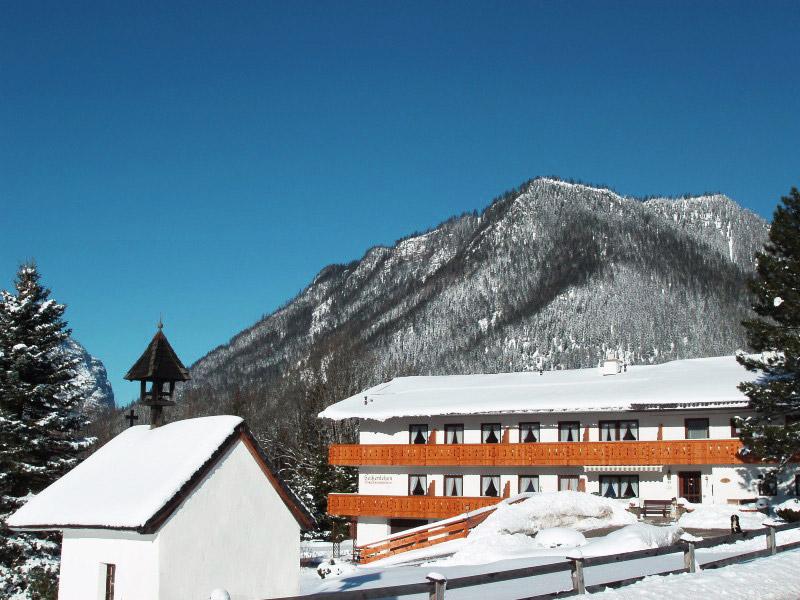 Gästehaus Heißenlehen im Winter Ramsau bei Berchtesgaden