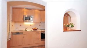 Ferienwohnung Jenner Küche im Gästehaus Rennerlehen