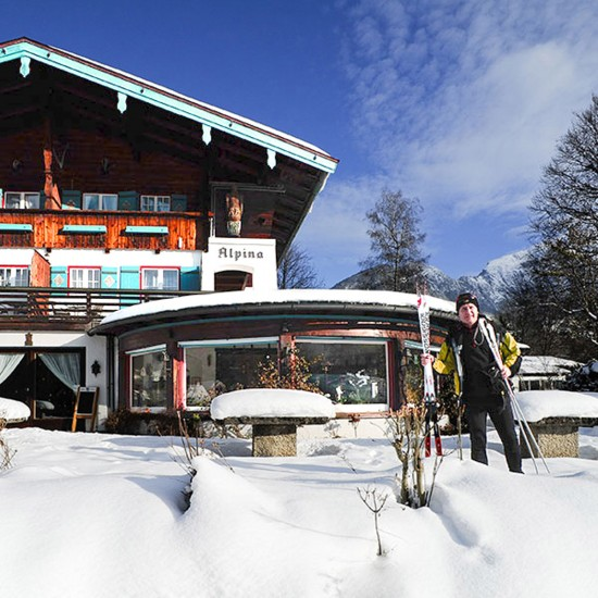 Stoll's Hotel Alpina im Winter