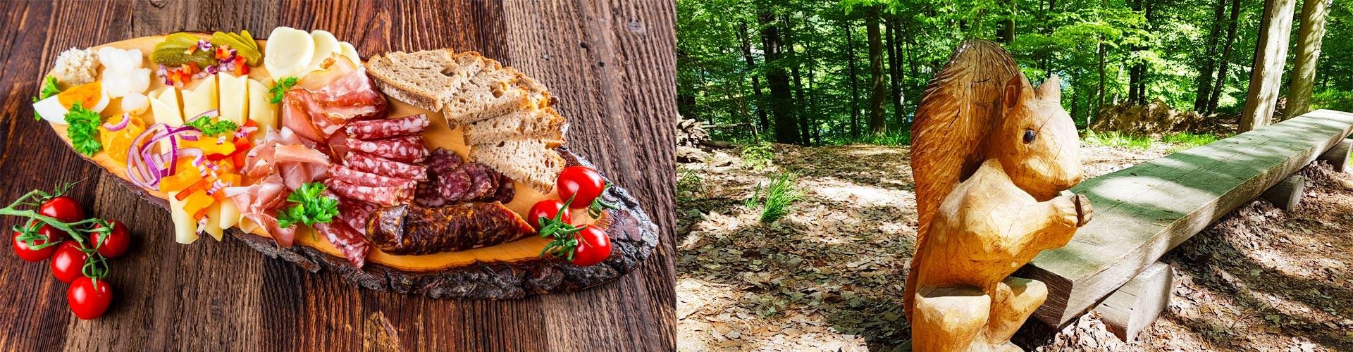 Brotzeit auf der Harbachalm - Märchenpfad in Bischofswiesen