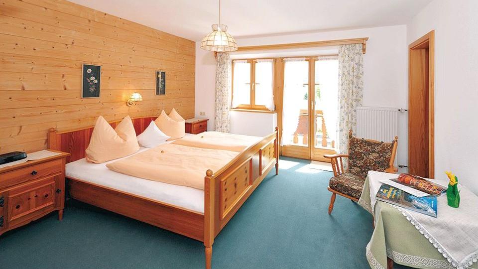 Ferienwohnung Jenner Schlafzimmer im Gästehaus Rennerlehen