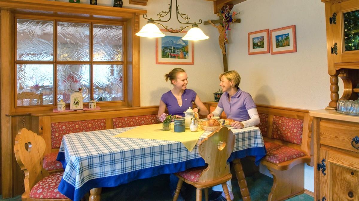 Frühstücksraum im Landhaus Maltermoos