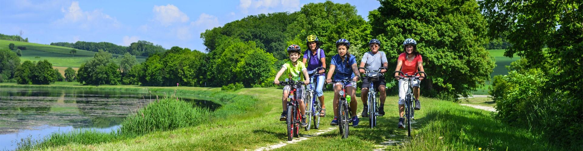 Radfahren mit der Familie in Berchtesgaden