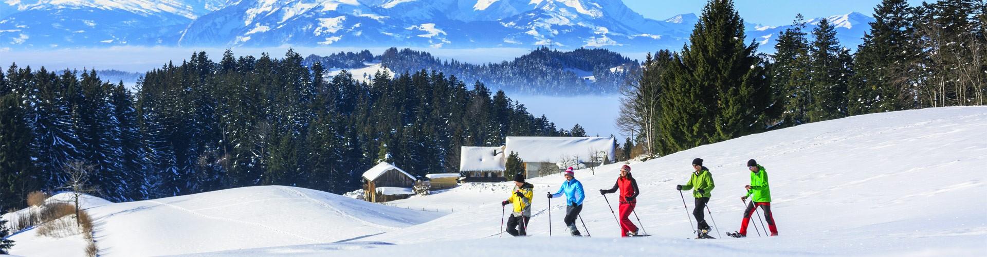 Schneeschuhwandern mit der Familie im Berchtesgadener Land