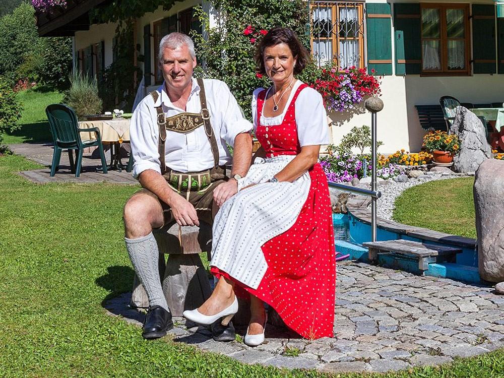 Die Gastgeberfamilie Gschoßmann