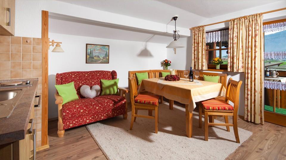 Haus Marienlehen Ferienwohnung Watzmann Wohnbereich
