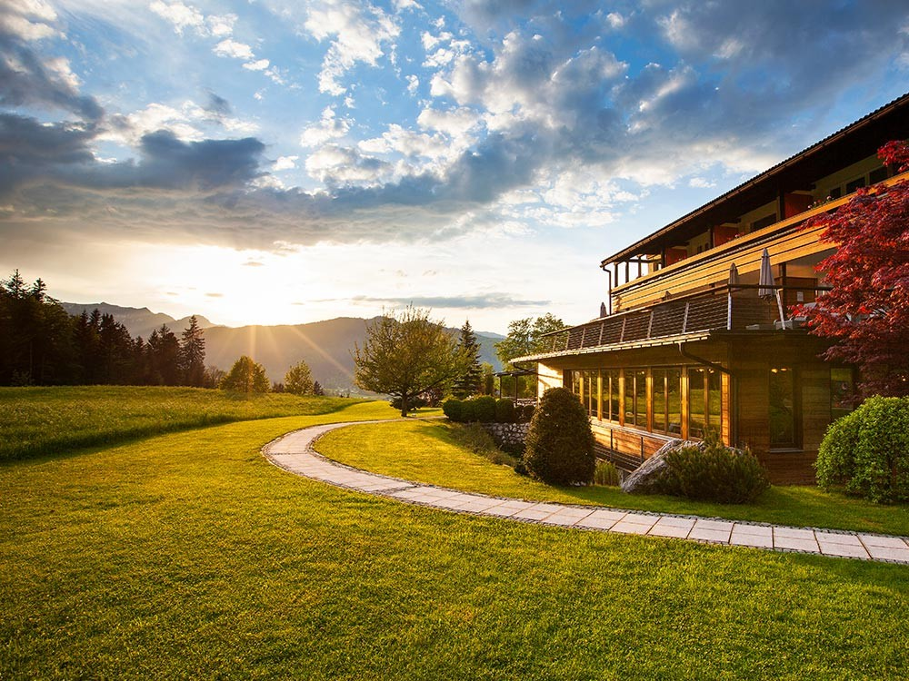 Alpenhof-Sonnenuntergang