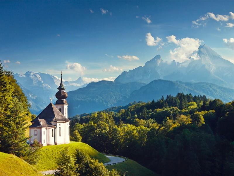 Maria Gern mit Blick auf Watzmann in Berchtesgaden