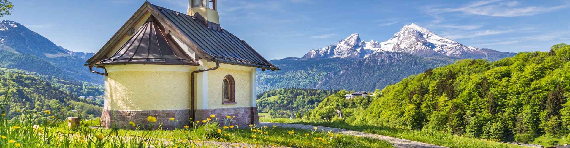 Kirchleitn Kapelle mit Blick auf Watzmann