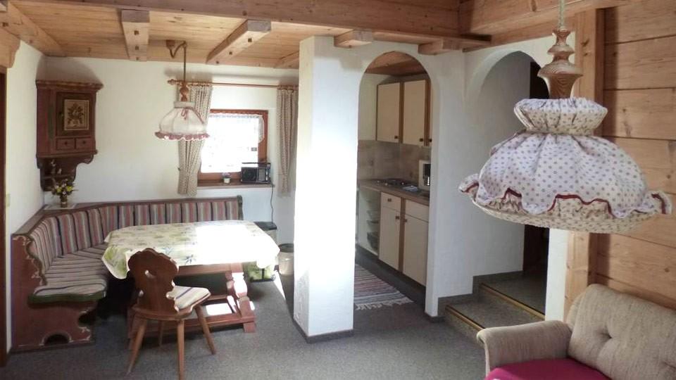 Appartement 3 Wohnbereich mit Küche