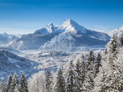 Der Watzmann im Winter