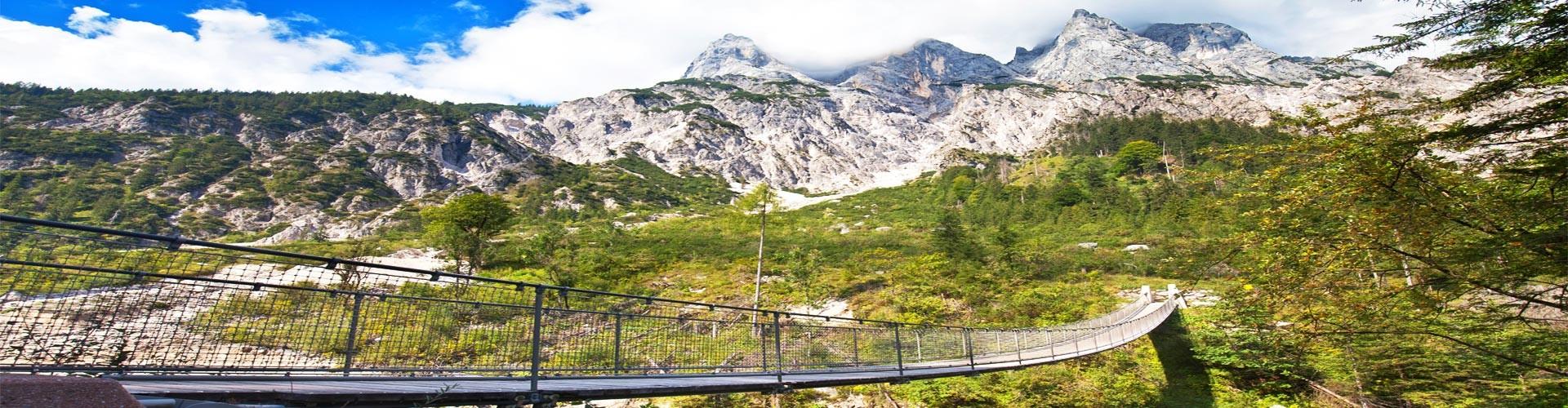 Hängebrücke im Nationalpark Berchtesgaden