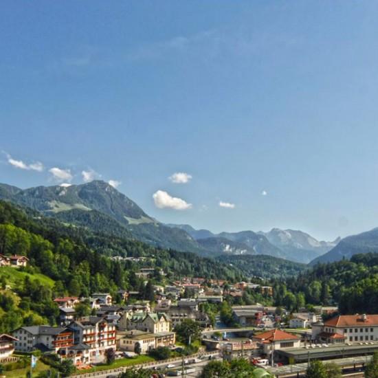 Ausblick vom Hotel Grünberger Berchtesgaden