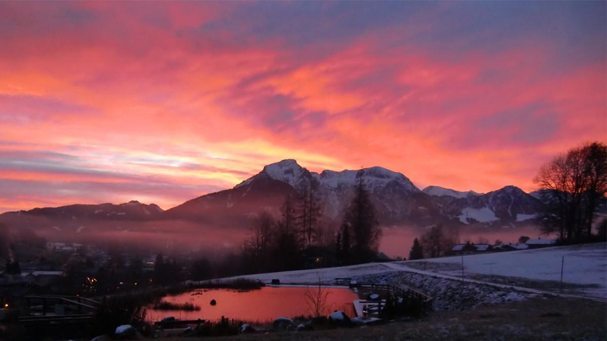 Naturhotel Reissenlehen Sonnenuntergang Witner