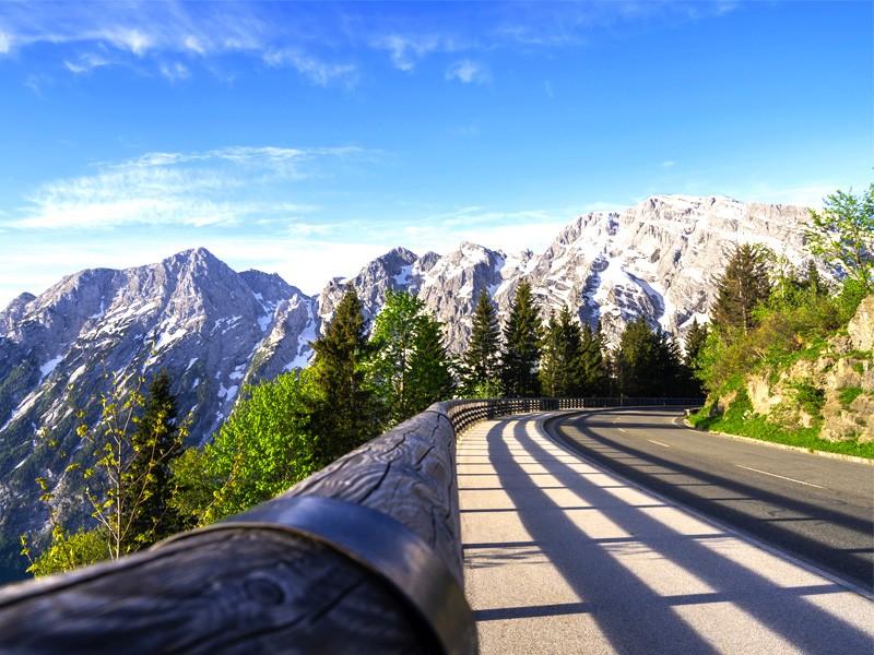 Rossfeld Panoramastraße in Berchtesgadener Alpen