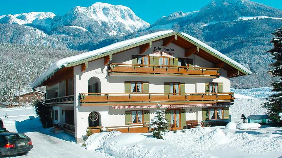 Caf'e Pension Brandtnerhof Aussicht im Winter