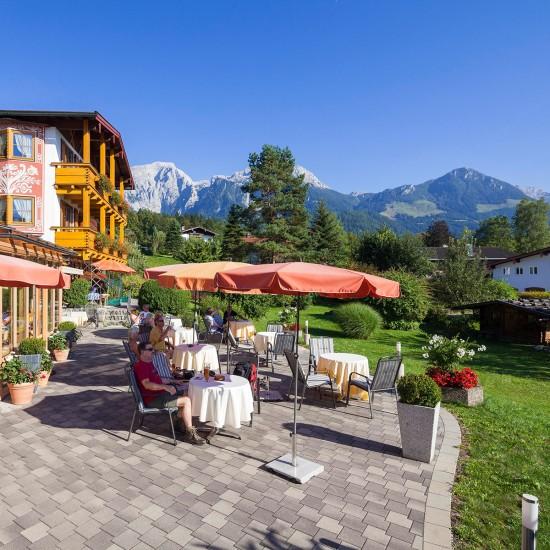 Hotel Georgenhof Schönau am Königssee Terrasse