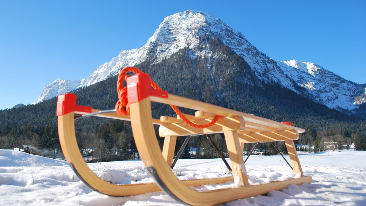 Rodeln in Berchtesgaden im Winter