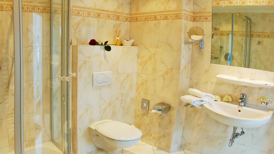 Haus am Forst Doppelzimmer Komfort Bad