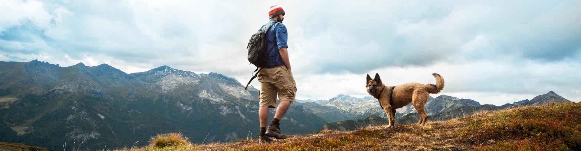 In den Berchtesgadener Bergen mit Hund