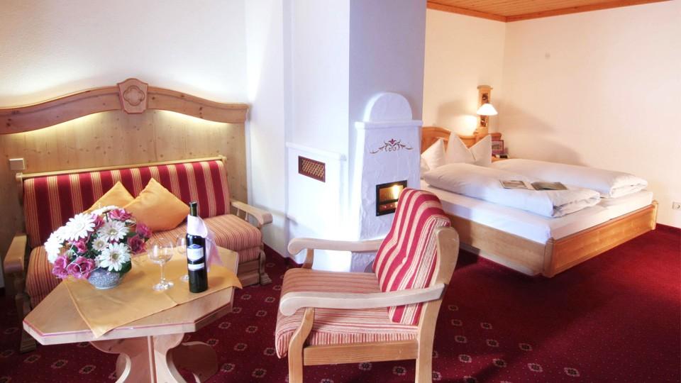 Hotel-Gasthof Bergheimat Doppelzimmer Komfort Wohnecke