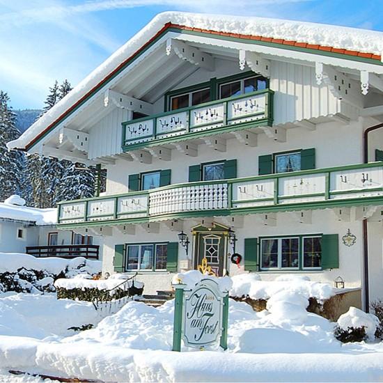 Haus am Forst im Winter