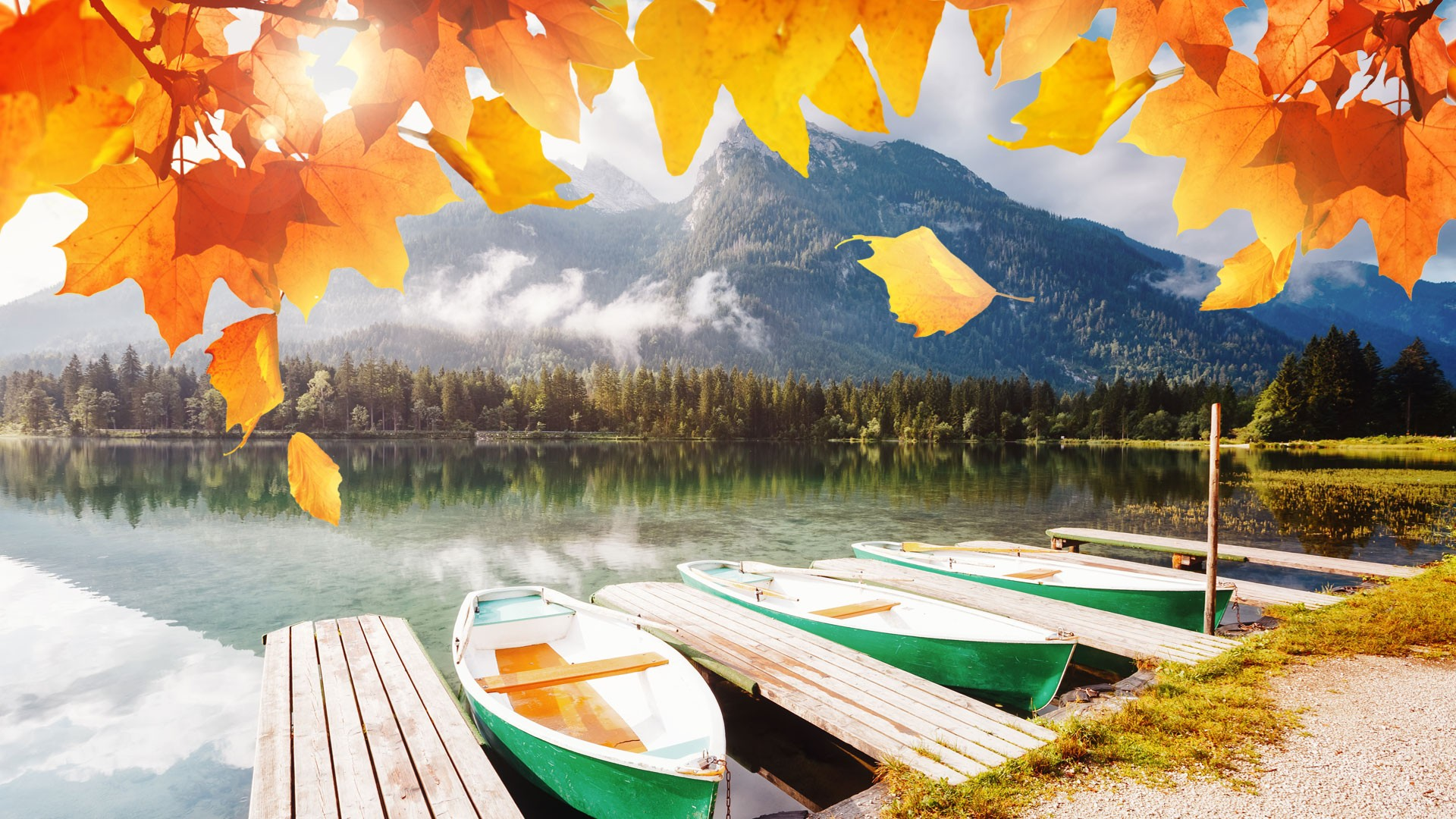 Herbst in Berchtesgaden - Hintersee