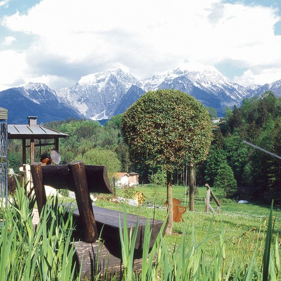 Garten mit Ausblick - Pension Haus Michael Berchtesgaden
