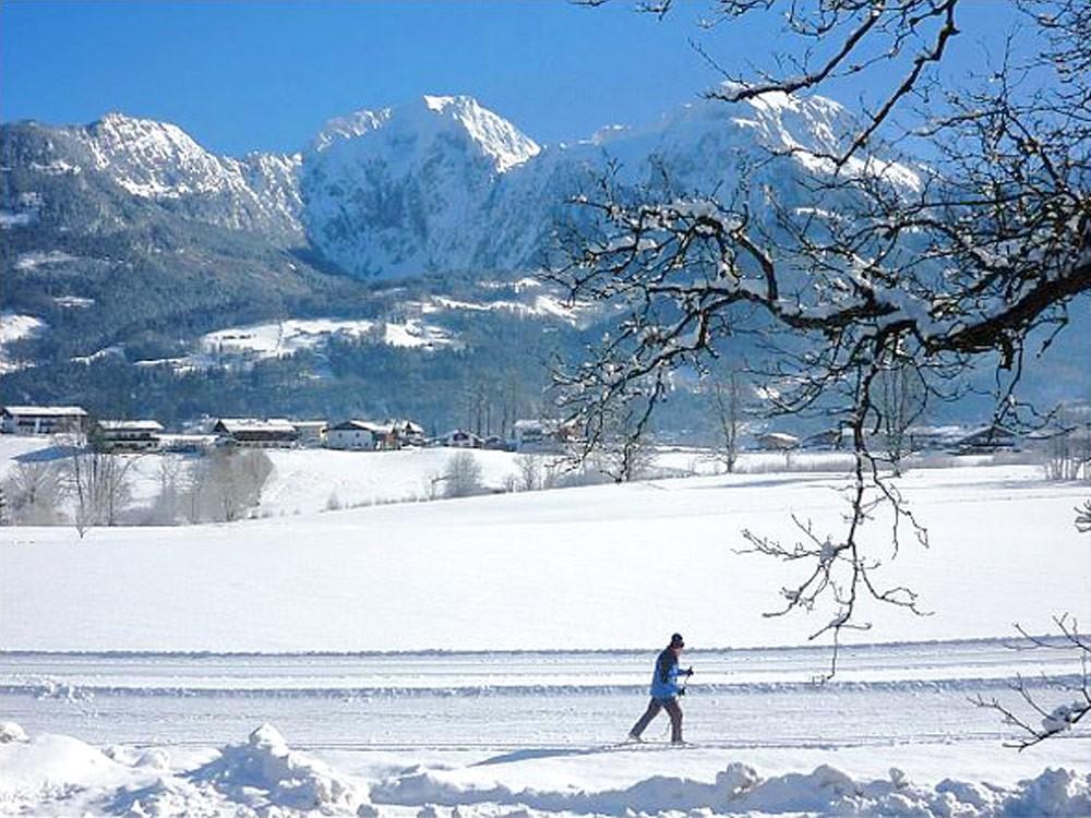 Ausblick aus den Ferienwohnungen im Winter
