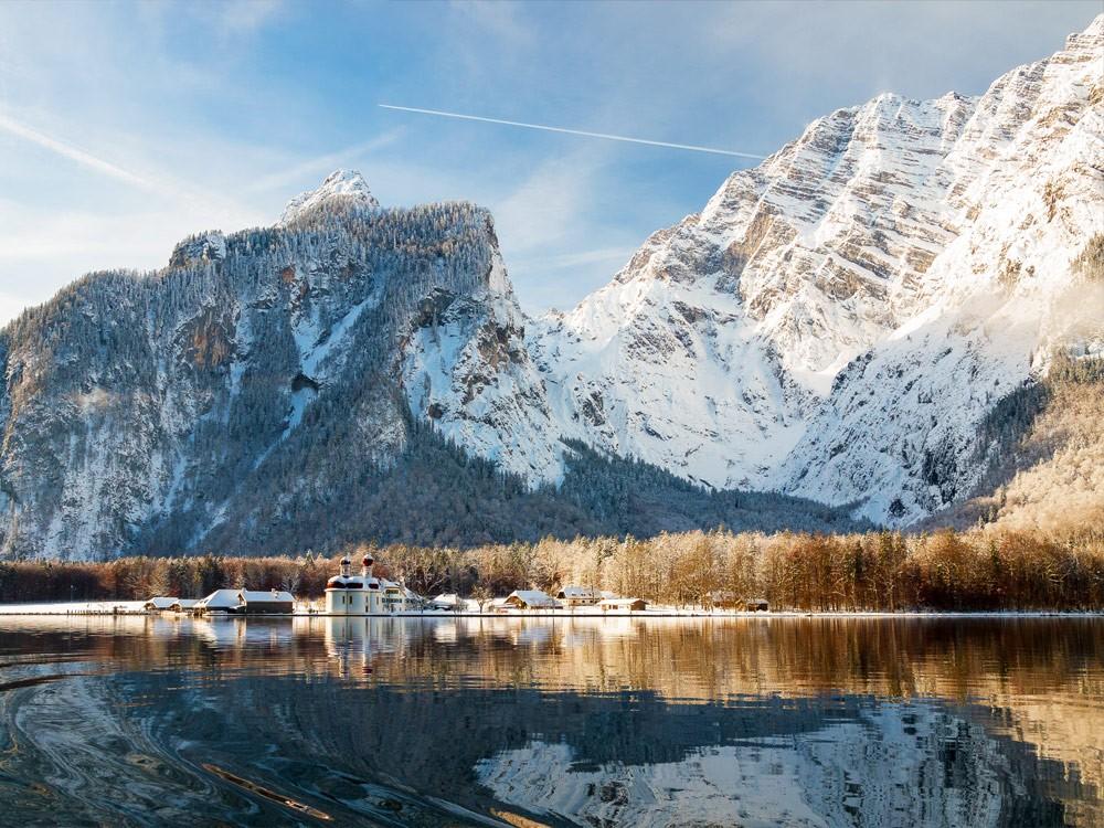 Schifffahrt über den Königssee im Winter