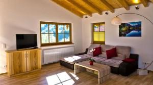 Wohnzimmer im Chalet Lampllehen