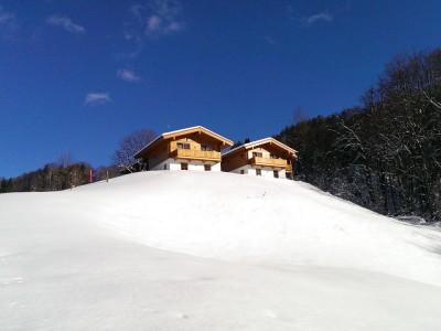 Die Chalets im Winter