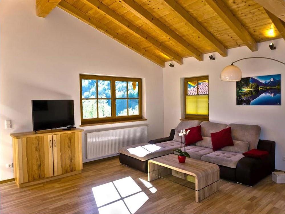Gemütliches Wohnzimmer im Chalet