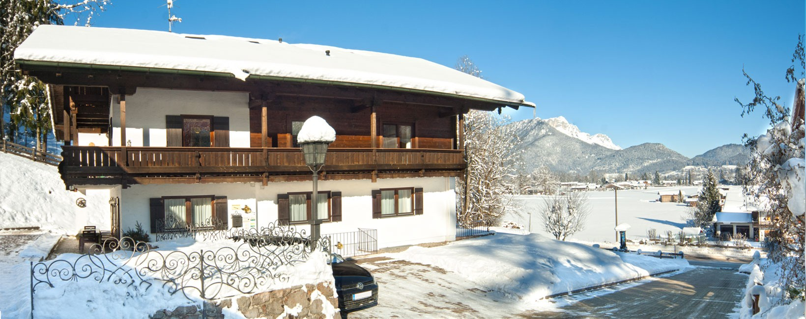 Pension Berganemone im Winter