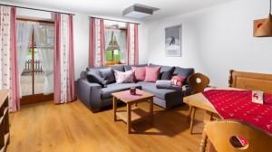 Ferienwohnung Bergzeit Wohnzimmer