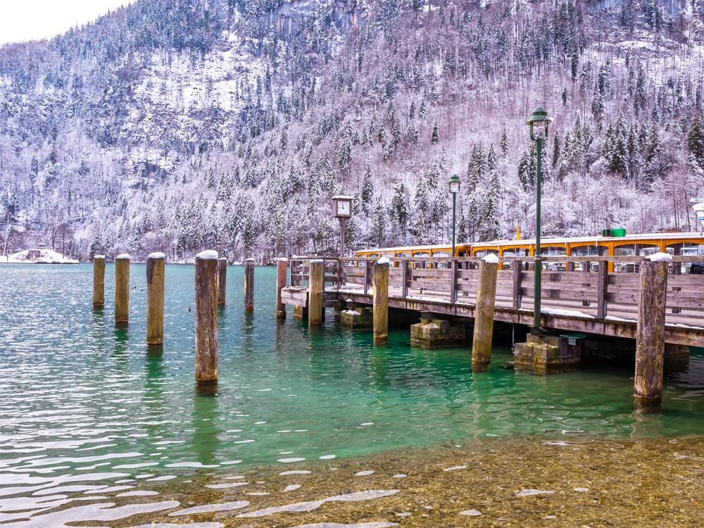 Der nahegelegene Königssee im Winter