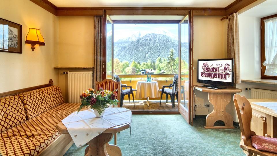 Doppelzimmer Appartement mit Balkon - Hotel Georgenhof